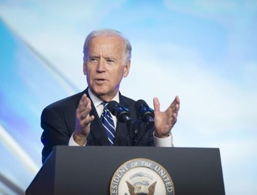 図1●「Solar Power International」で演説をするバイデン大統領(当時副大統領)