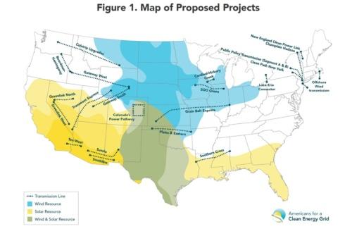 図4●現在提案されている22の新規・基幹送電網建設プロジェクト