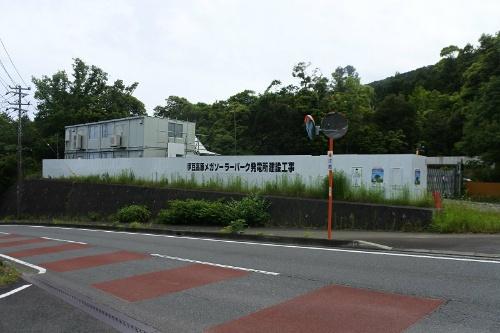 「伊豆高原メガソーラーパーク発電所」建設工事の事務所