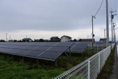低圧事業用太陽光発電所の設置例