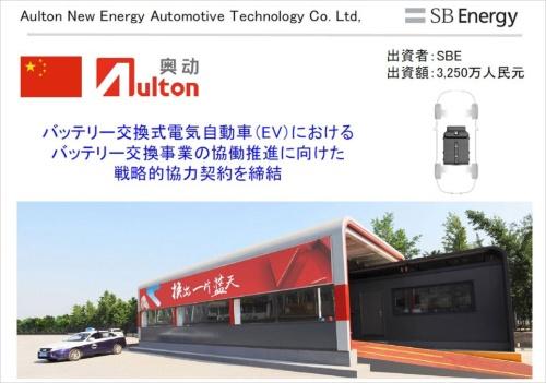 図1●EVのバッテリー交換事業を手掛けているオルトン(Aulton)に出資