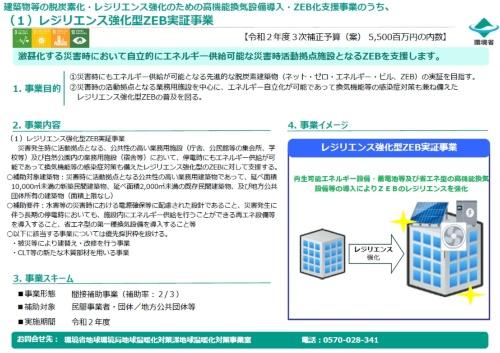 図3●災害時の拠点向けの「レジリエンス強化型ZEB実証事業」