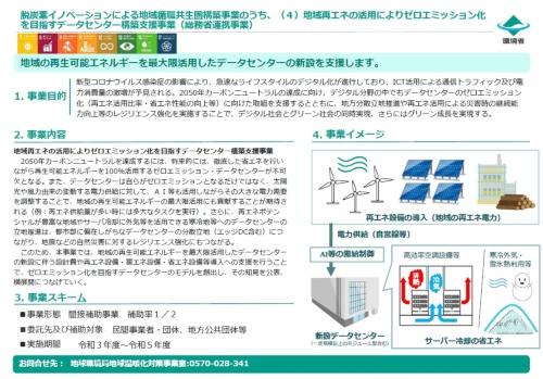 図7●「地域再エネの活用によりゼロエミッション化を目指すデータセンター構築支援事業」