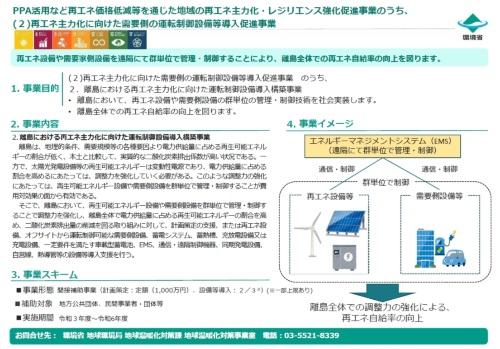 図10●「再エネ主力化に向けた需要側の運転制御設備等導入促進事業」