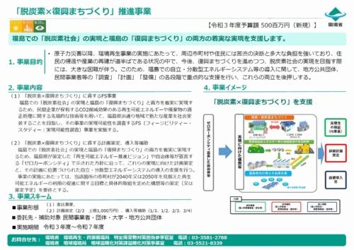 図3●福島における自立分散型エネルギーの導入を支援