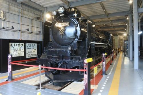 図1●「道の駅あびらD51ステーション」に展示されている蒸気機関車「D51 320号」