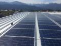 リサイクル施設に81kWの自家消費太陽光、リユースパネル採用