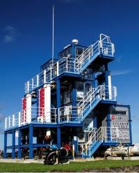 久米島にある沖縄県の海洋温度差発電実証試験設備