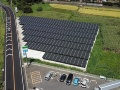 実際の太陽光発電所で実習、ドローン検査の実技研修