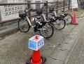 琉球大で自転車のシェアリングと太陽光充電、ENEOSなど