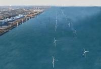 茨城県鹿島港洋上風力発電所の完成イメージ
