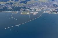 秋田港洋上風力発電所の完成予想図