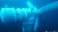 海底に設置されている様子