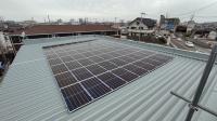 和歌山支社伏虎営業部に設置された太陽光パネル