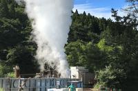 2020年9月に実施した噴気試験の様子