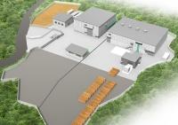 木質バイオマス発電所の完成予想図
