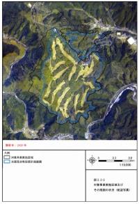 対象事業の実施区域とその周辺の状況(航空写真)