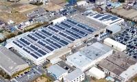 THKリズム浜松工場の太陽光パネル