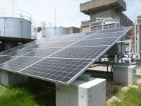 明石工場に設置した太陽光パネル