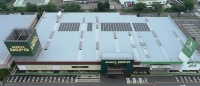 スポーツデポ・ゴルフ5千葉ニュータウン店に設置した太陽光パネル