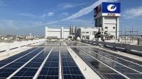 本店三号工場の屋上に設置した太陽光パネル