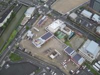 西宮CSの屋根に設置した太陽光パネル