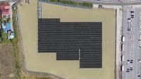 百丁場池太陽光発電所の完成イメージ(Googleマップを基に作成)