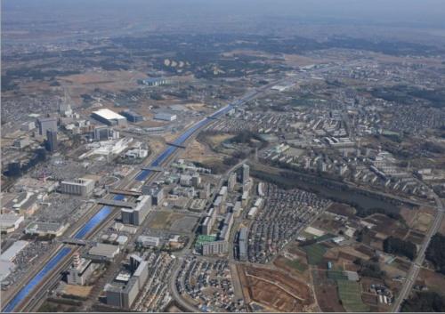 図2●約10kmにパネルが並ぶ「SGET千葉ニュータウンメガソーラー発電所」の完成予想図