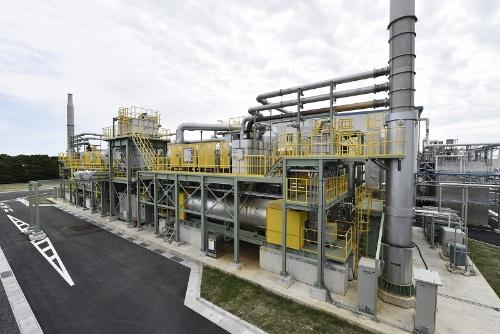 図3●キルン式の炭化設備