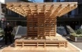 Solar-powered 'Woody Cool Spot' Set Up in Tokyo