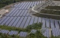 Extra-high-voltage Solar Plant Operating on North-facing Slope