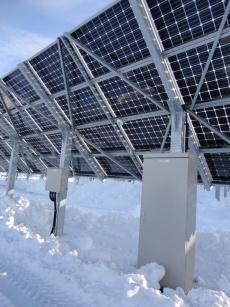 "Fig. 10 Design of the mount used by ""Asahikawa Hokuto Solar Power Plant"" (Source: Nikkei BP)"