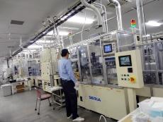 Fig. 7 Electrode printing line at Saijo Plant (Source: Nikkei BP)
