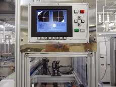 Fig. 9 Electrode printing alignment equipment at Saijo Plant (Source: Nikkei BP)
