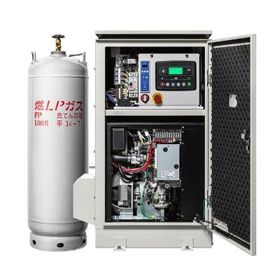 ガス専用エンジンを搭載したLPガス発電機『RAYPOWER 3kVA』