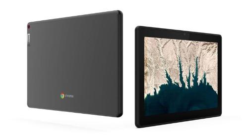 タブレット型の10e Chromebook Tabletは、キーボードを装着して利用することもできる