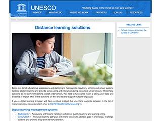 ユネスコが新型コロナウイルス対策でオンライン教育ツールなどをリスト提供
