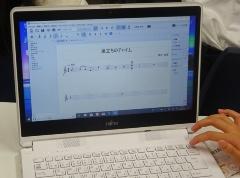 無料の楽譜作成ソフト「Muse Score」。マウス操作で、楽譜上に音符を配置したり、曲を再生したりできる