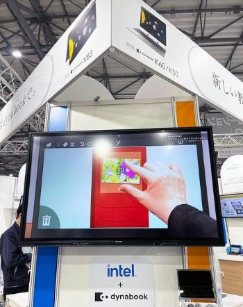 「dynaSchool デジタルノート@クリエイターズ3」は、Windows用の学校向けデジタルノートアプリ。写真や動画、音声、手書きメモなどを簡単に追加でき、共有や記録ができる。同社のパソコンにバンドルされ、GIGAスクール端末活用の入り口として提案する