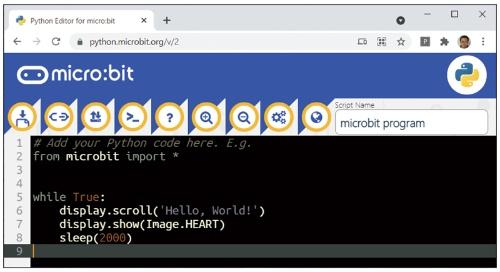 図6 ●本格プログラミング言語Pythonでのプログラミングも可能