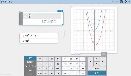 カシオ計算機の数学向けオンライン学習ツール「ClassPad.net」。Webブラウザー上で動作し、関数計算やグラフ描画ができる