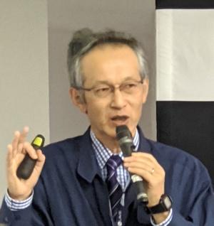 「ITシステムを最大限に生かしつつ、トヨタ生産方式を駆使して効率的に作る」と米沢事業場の強みを語る竹下氏