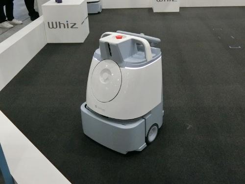 清掃ロボット「Whiz」は、初めに手押しで清掃ルートを学習させると、あとは自動で運転する。障害物などがある場合は自動回避する