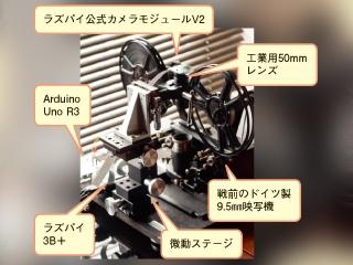 戦前に人気の9.5ミリ小型映写機を転用、貴重なフィルムを動画に変換するスキャナー