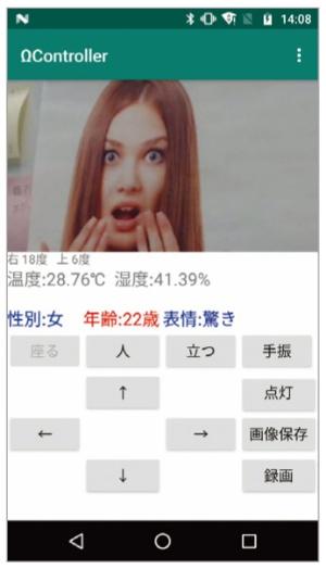 図3 センサーで人の表情を読み取る