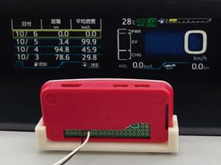 ハイブリッドカーの走行モードを自動切り替え、現在の走行モードはパネル表示を撮影して判別