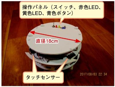 図1 「卓上で使えるお掃除ロボット」