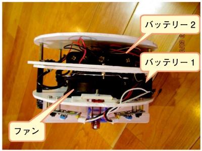 図3 ごみはパソコン用冷却ファンで吸引