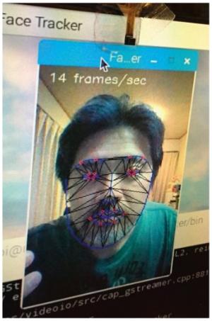 図2 Face Trackerで表情を認識