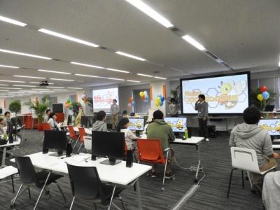 プログラミング体験教室は川崎市にあるデル本社の社屋内で行われた